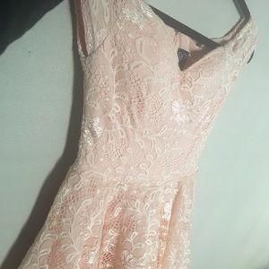 Beautiful Blush pink and flowery white dress!